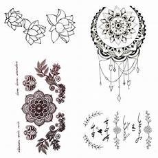 Small Henna Mandala Flower Temporary Sun Moon