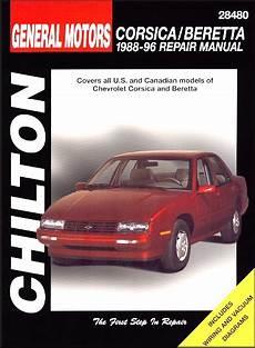 free car repair manuals 1995 chevrolet beretta parking system chevy corsica chevy beretta repair manual 1988 1996 chilton 28480