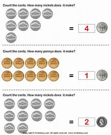 different number of coins same value worksheet turtle diary