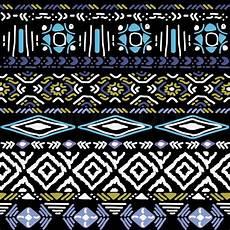 Indianische Muster Malvorlagen Text Nahtlose Vektor Ornament Auf Schwarzem Hintergrund