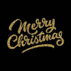 merry christmas gold glitter lettering calligraphy with light background for logo design