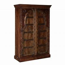 Traditional Reclaimed And Solid Mango Wood Rustic Armoire