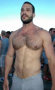Chest hairy muscular