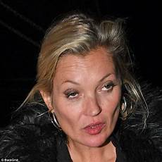bleary eyed kate moss steps out looking worse for wear