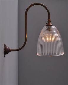 peterstow prismatic swan neck wall light victorian wall