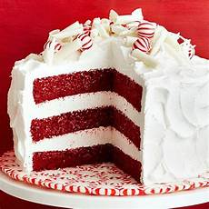 Decorating Ideas For Velvet Cake by Peppermint Velvet Cake Family Circle