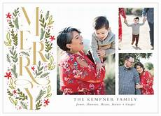 merry grid holiday cards by basic invite