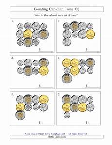 the counting canadian coins c math worksheet from the money worksheet page at math drills com