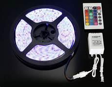 5m 5050 Rgb Led 12v Remote Controller Power Ebay