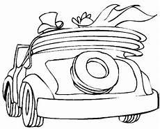 Malvorlagen Hochzeit Auto Hochzeitsauto Cabrio Ausmalbild Malvorlage Auto