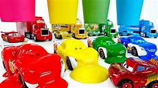 learn colors with disney cars lightning mcqueen color paint bucket lulupoptv youtube