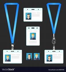 lanyard card template free lanyard name tag holder end badge id template vector image