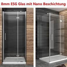 Duschkabine Duschabtrennung 8mm Nano Glas Duschwand