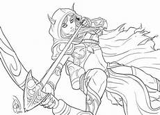 world of warcraft coloring pages for boys