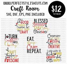 craft room decor bundle svg dxf eps png files for cutting