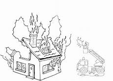 feu dessin coloring pictures of houses on coloring pages