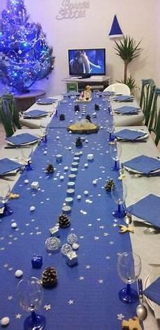 deco noel bleu et blanc mod 232 le d 233 co de table de no 235 l bleu et argent noel blue