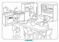 dibujo de cocina moderna playmobil para colorear
