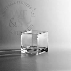 4 quot square glass cube vase wholesale flowers and supplies