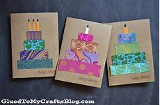 Geburtstag Karte Basteln - paper scrap birthday cards craft idea stickyu