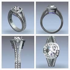 cad engagement ring design samuel kleinberg