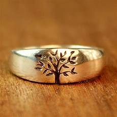 tree of life wedding ring in sterling by turtlelovecoartisan