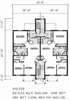 multiplex house plans multi unit house plans home design pdi709