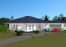winkelbungalow mit garage bungalow vorderansicht kompakt mit garage haus