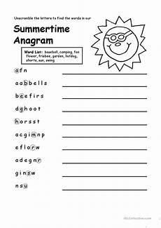 summertime anagram worksheet free esl printable worksheets made by teachers