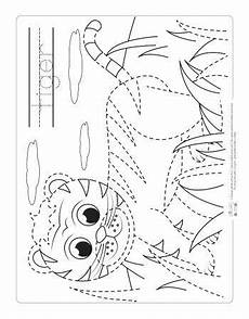 jungle animals coloring pages for kindergarten 17049 safari and jungle animals tracing worksheets coloring pages printable activities for