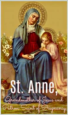 st anna st grandmother of jesus and patron of