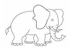 Elefant Vorlage Ausschneiden - ausmalbilder f 252 r kleinkinder ausmalen vorschule und