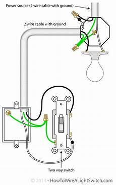 2 way switch with power source via light fixture how to wire a light switch home electric