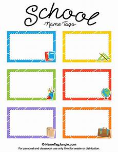 Free Printable School Name Tags The Template Can Also Be