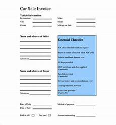 car sales receipt template used car sales invoice template uk invoice exle