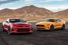 Chevy Ford 2018 chevrolet camaro ss 1le vs 2018 ford mustang gt