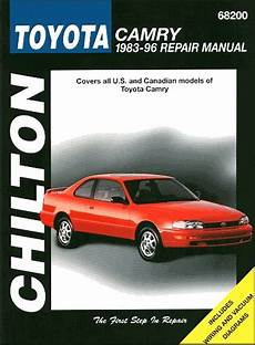 chilton car manuals free download 1992 toyota camry head up display toyota camry repair workshop manual 1983 1996 chilton 68200