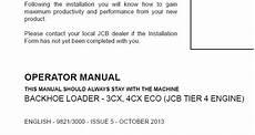 jcb 3cx 4cx eco jcb tier 4 engine backhoe loader