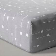 fitted crib sheet arrows cloud island gray target
