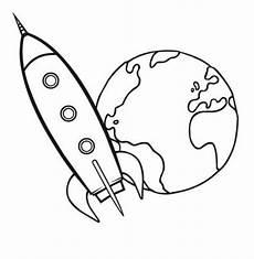Malvorlage Rakete Einfach Kostenlose Malvorlage Transportmittel Rakete Zum Ausmalen
