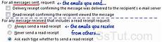 request read receipts in outlook 2010