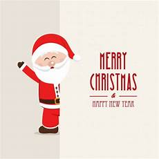 merry christmas background with a smiling santa claus free vector