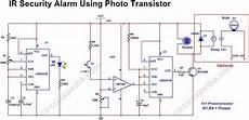 Infrared Security Alarm Using Phototransistor Circuitspedia