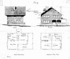swiss chalet house plans swiss chalet no 12 side front first second floor