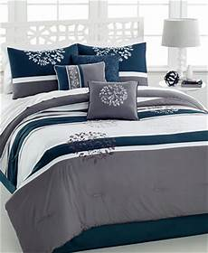 closeout bentley 7 pc queen embroidered comforter bed in a bag bed bath macy s