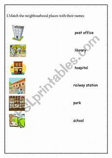 places in my neighbourhood worksheets 16015 neighbourhood places esl worksheet by parina