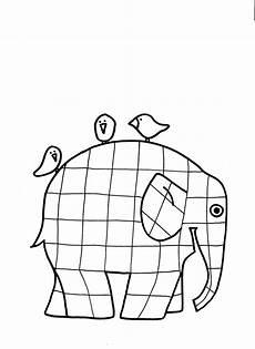 elmar elefant ausmalbild kostenlos ausmalen club