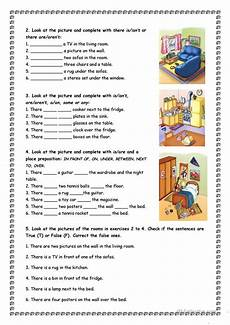 grammar worksheet there is there are with prepositions 25093 house and furniture there is are worksheet free esl printable worksheets made by teachers