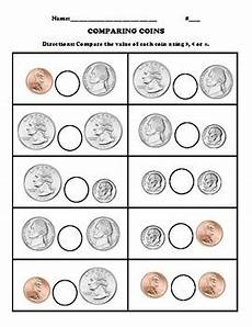 comparing coins worksheet by villarreal tpt