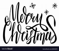 merry christmas calligraphy font style banner vector image